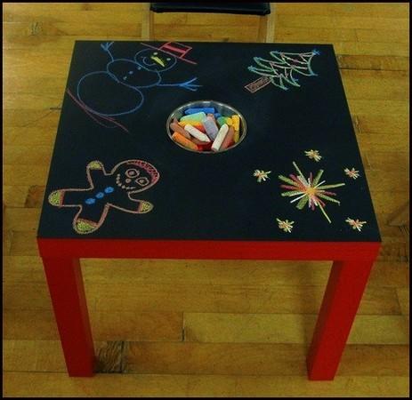 Table pour les craies for Peinture tableau craie